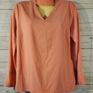 Like New Simply Styled Coral Blouse